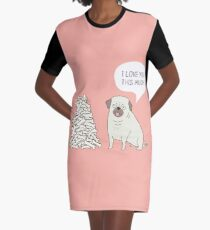 pug's love Graphic T-Shirt Dress
