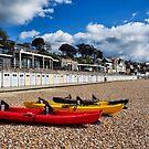 Kayaks and Beach Huts - Lyme Regis by Susie Peek