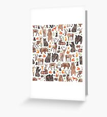 Woodland Animals Greeting Card