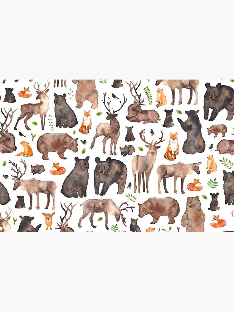 Woodland Animals by ElenaONeill