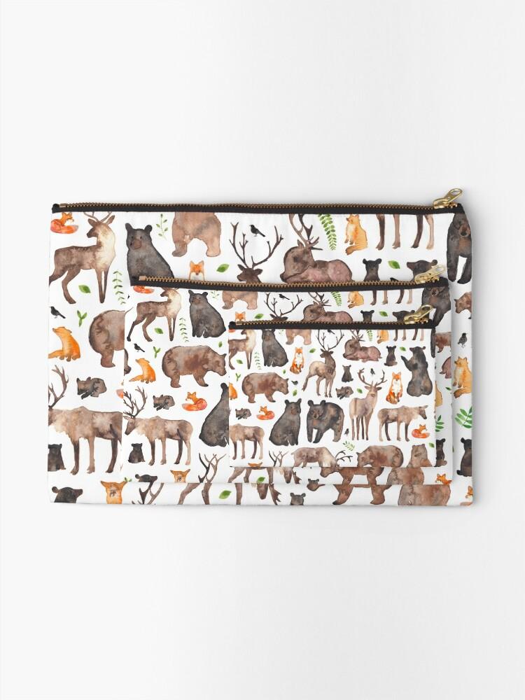 Alternate view of Woodland Animals Zipper Pouch