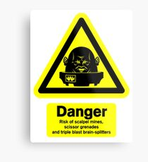 Sontaran Danger! Metal Print