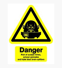 Sontaran Danger! Photographic Print