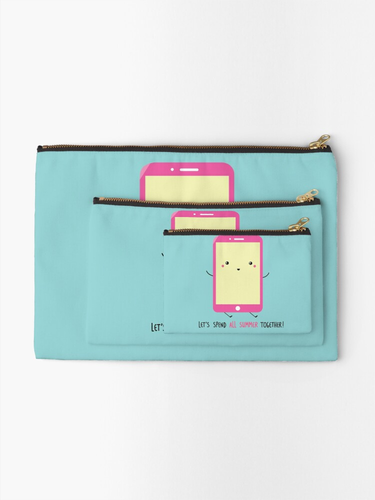 Alternate view of let's spend all summer together Zipper Pouch