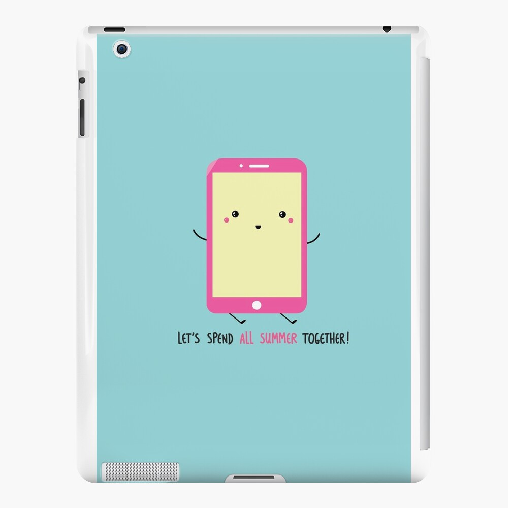 let's spend all summer together iPad Cases & Skins
