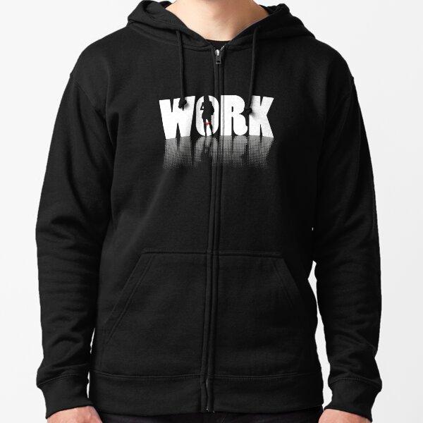Work (white version) Veste zippée à capuche