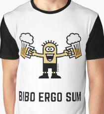 Bibo Ergo Sum (I drink therefore I am.) Graphic T-Shirt