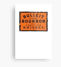 Bulleit Bourbon Metalldruck