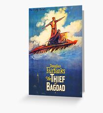 The Thief of Bagdad classic 1920's poster Greeting Card