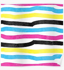 Striped Colorful Pattern Poster