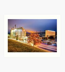 Donald W. Reynolds Stadium - Home of the Arkansas Razorbacks College Football Team Art Print