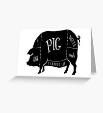 I Like Pig Butts Greeting Card