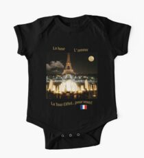 Eiffel Tower at Night One Piece - Short Sleeve