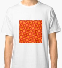 rounded squares pattern gold red orange Classic T-Shirt
