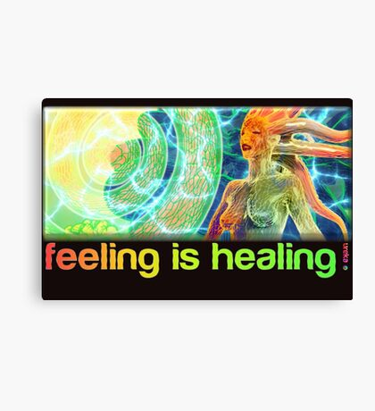 feeling is healing! (ureka.org) Canvas Print