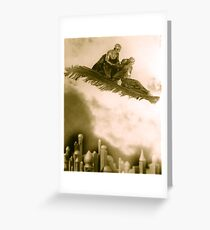 The Thief of Bagdad flying carpet from the 1920s film Greeting Card