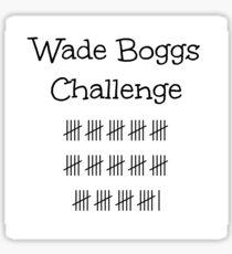 Wade Boggs Challenge  Sticker