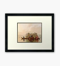 George Caleb Bingham, Fur Traders Descending the Missouri Framed Print