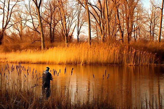 Presque Isle Fisherman - Erie, PA by Kathy Weaver