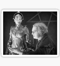 The Mad Scientist Rotting and the False Maria Robot from Metropolis Sticker