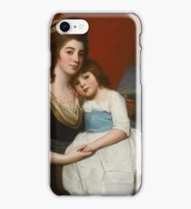 George Romney PORTRAIT OF LADY GEORGIANA SMYTH (CIRCA  AND HER SON iPhone Case/Skin