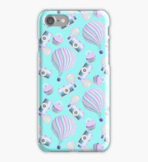 Fairy Cakes Cameras and Hot Air Balloons Pattern iPhone Case/Skin