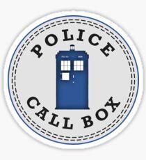 Police Call Box Sticker