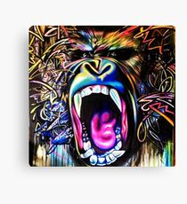 Rainbow Gorilla Canvas Print