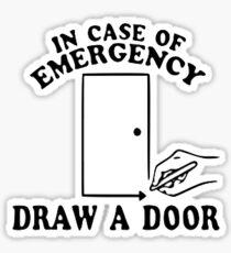 draw a door // beetlejuice Sticker