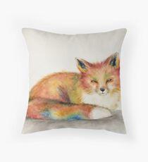 Spring Brings the Fox Throw Pillow