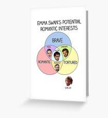 Emma Swan Love Interests Greeting Card
