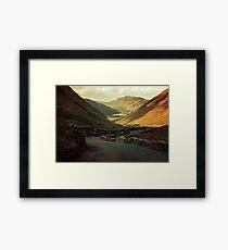Scotland landscapes at the sunset Framed Print