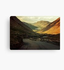 Scotland landscapes at the sunset Canvas Print