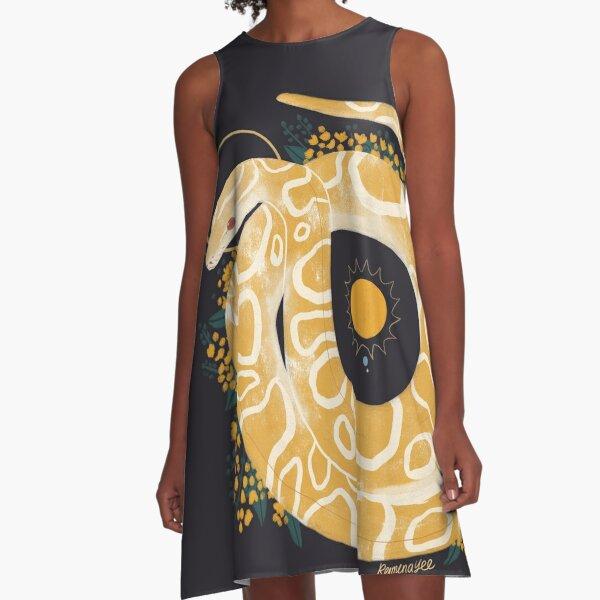 Familiar - Burmese Python A-Line Dress