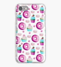 Fairy Cakes Doughnuts and Biscuits Pattern iPhone Case/Skin