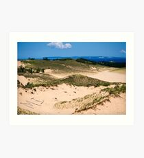 Sleeping Bear Sand Dunes Art Print