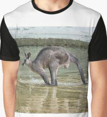 Eastern Grey Kangaroo in motion Graphic T-Shirt