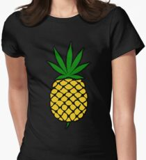 Pineapple Weed Leaf (Fold Up) Shirt Womens Fitted T-Shirt