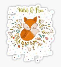 Wild & Free Fox Sticker