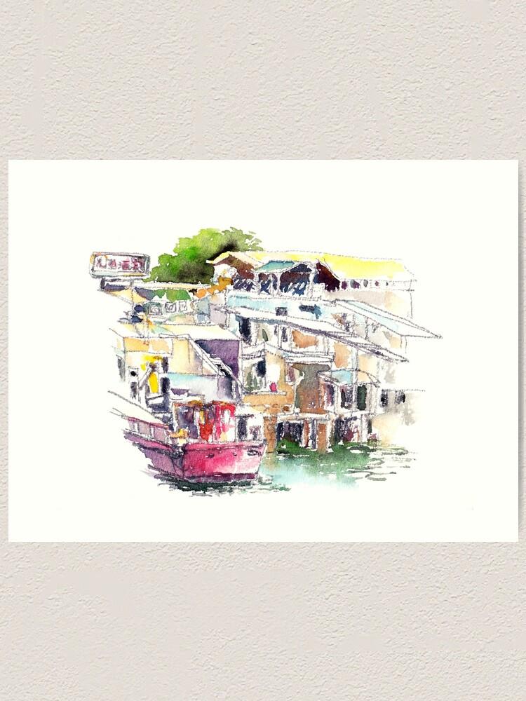 Alternate view of Lee Yu Mun Fishing Village  Art Print