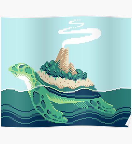 Gentle sea monster (Pixel) Poster