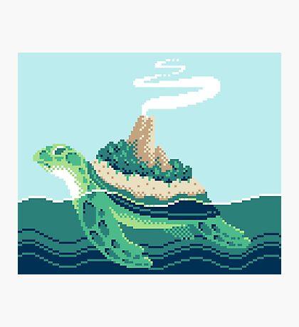 Gentle sea monster (Pixel) Photographic Print
