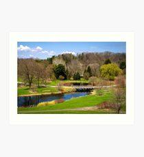 Spring Park Landscape Art Print