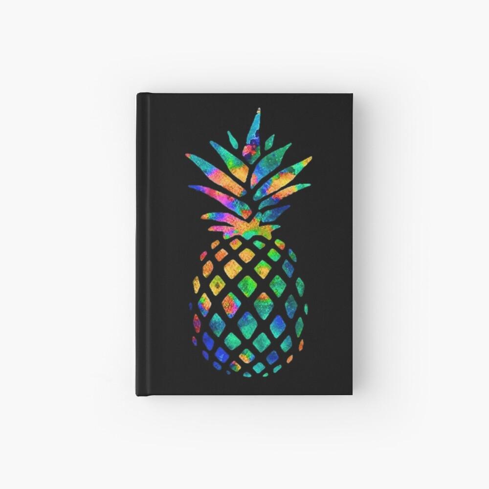 Rainbow Pineapple Hardcover Journal
