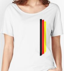 German flag colors stripes V2 Women's Relaxed Fit T-Shirt
