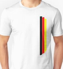German flag colors stripes V2 Unisex T-Shirt