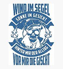 Wind im Segel Fotodruck
