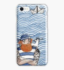 Seemann mit Seehund - Seaman With Seadog iPhone Case/Skin