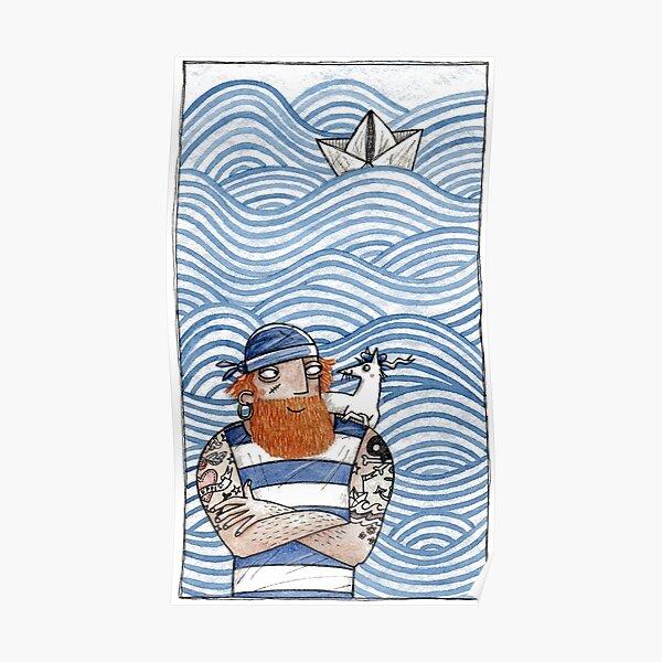 Seemann mit Seehund - Seaman With Seadog Poster