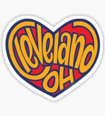 Cleveland Ohio Heart Sticker